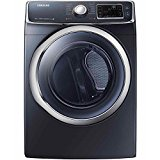 Samsung DV45H6300EG 7.5 Cu. Ft. Front-Load Electric Steam Dryer with Vent Sensor, Onyx