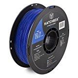 HATCHBOX 3D PLA-1KG1.75-BLU PLA 3D Printer Filament, Dimensional Accuracy +/- 0.05 mm, 1 kg Spool, 1.75 mm, Blue