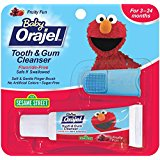 Orajel Baby Elmo Tooth and Gum Cleanser with Finger Brush, Fruity Fun, 0.7 Oz