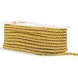"""Large Metallic Twisted Cord 1/4"""" Wide 18 Yards-Gold"""