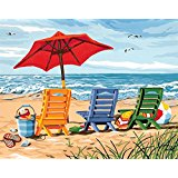 11 x 14 Beach Chair Trio Paint Works
