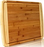 """Bamboo Cutting Board EXTRA LARGE - WIDE & THICK 