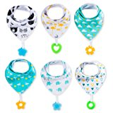 Baby Bandana Drool Bibs and Teething toys Made with 100% Organic Cotton, Super Absorbent and Soft Unisex (Vuminbox )