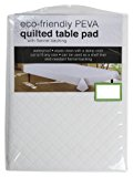 "Sultan's Linens PEVA Quilted Table Pad With Flannel Backing, Waterproof, Skid Resistant (120""x52"")"