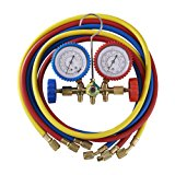 Orion Motor Tech 5FT AC Diagnostic Manifold Freon Gauge Set for R12, R22, R502 Refrigerants, without Couplers