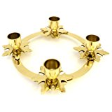 Biedermann & Sons Brass Snowflake Advent Ring Candle Holder