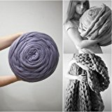 WEIYE Wool Thick Line Wool/yarn Hand Chunky Knitted Diy Blanket Thick Yarn Merino Wool Bulky Knitting Weave Your Favorite Blankets(Colors:grey)