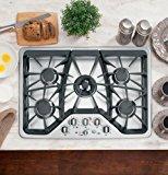 "GE CGP350SETSS Cafe 30"" Stainless Steel Gas Sealed Burner Cooktop"