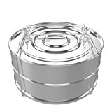 ekovana Stackable Stainless Steel Pressure Cooker Steamer Insert Pans - Instant Pot in Pot Accessories - Fits 5,6 & 8 qt instant pot