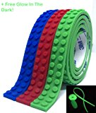 (3 Pack) Building Block Tape Rolls 9.8 Ft. In Total : 3.28 Ft. Each Color Compatible with Lego Blocks Self-Adhesive Red Blue and Green, Non-Toxic Perfect for Kids of All Ages