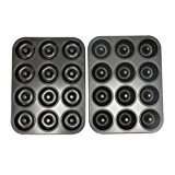 Webake 2-Pack 12 Cavity Mini Bundt Cake Pan and 12 Cavity Donut Cake Pan, Non-stick