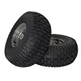 "MARASTAR 21446-2PK 15x6.00-6"" Front Tire Assembly Replacement for Craftsman Riding Mowers"