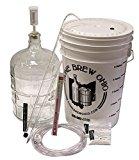 Winemakers Depot WEK05G Wine Making Equipment Kit, Glass 3 gal