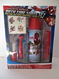 SPIDERMAN Bath Time Shaving Set Bath Foam Tattoos Comb Razor Shave Brush Pretend Play