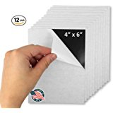 Flexible Adhesive Magnetic Sheets Paper 4-inch x 6-inch Peel and Stick, Works Great for Pictures!, Cuts To Any Size! Pack of 12