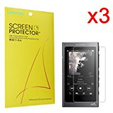 Lamshaw Screen Protector, for Sony NW-A35 Walkman Premium High Definition Ultra Clear (3 pack)