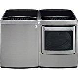 LG PAIR SPECIAL-Mega Capacity High Efficiency Top Load Laundry System *Graphite Steel* (WT1801HVA_DLEY1701V)