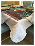 First Quality Quilted Table Protectors - Quilted Dining Table Pad With Flannel Backed For More Protection (60 in x 84 in)