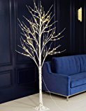 Bolylight Birch Tree 8ft 136L LED Decorations Lighted Tree Valentine's Day Decor for Bedroom/Party/Office/Home, Warm White
