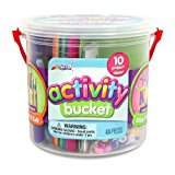 ArtSkills Activity Bucket, Arts and Crafts Supplies, 10 Project Ideas, Assorted Colors and Shapes, 404 Count