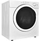 Costway Electric Tumble Dryer Clothes Laundry Dryer Compact Stainless Steel 27lb. Capacity/3.21 Cu.Ft. w/ Timer Control