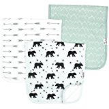 "Baby Burp Cloth Large 21''x10'' Size Premium Absorbent Triple Layer 3 Pack Gift Set For Boys ""Archer Set"" by Copper Pearl (Assorted Colors/Design)"