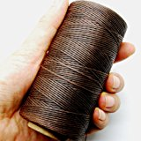 284yrd deep brown Leather Sewing Waxed Thread 150D 1mm Leather Hand Stitching 125g