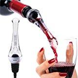 Vintorio Wine Aerator Pourer - Premium Aerating Pourer and Decanter Spout (Sliver)