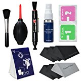 """LS Photography Photo Camera Cleaning Brush Kit Cleaning Set for DSLR Cameras, Lens and Sensitive Electronics with (6 PCS.) 6"""" x 7"""" SuperFiber Lens Cleaning Cloth, LGG168"""