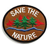 Peace002 - Save The Nature Patch - Peace Sign Patch - Logo Patches - Applique Embroidered patches - Iron on Patches - Backpack Patches - Peace Patch Size 8 X 7 Cm.