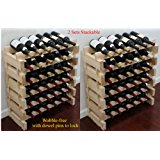 Stackable Storage Wine Rack Stand, Wobble-Free, Stackable Storage Wine Rack Stand, Wobble-Free, 72 Bottle Capacity, 6 X 12 Row)