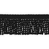 10 Yard Value Pack of BLACK 2.5 Inch Bullion Fringe Trim, Style# EF25 Color: K9 (30 Ft / 9.5 Meters)