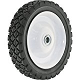 Shepherd Hardware 9592 7-Inch Semi-Pneumatic Rubber Tire, Steel Hub with Ball Bearings, Diamond Tread, 1/2-Inch Bore Centered Axle