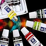 Amagic Acrylic Paint Set - 18 Colors x 12ml Tubes - Artist Quality Art Paints