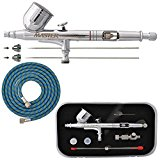Master Airbrush G233-SET Multi-Master Performance G233 Pro Set Dual-Action Gravity Feed Airbrush Set with 3 Nozzle Sets (0.2, 0.3 & 0.5 mm) 1/3 oz Cup & Cutaway Handle