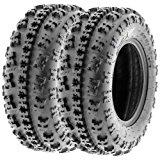 SunF Knobby ATV Sport Tires 23x7-10 23x7x10 6 PR A027 (Set pair of 2)