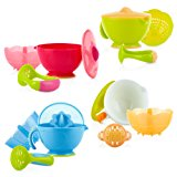 Nuby Garden Fresh Steam N' Mash Baby Food Prep Bowl and Food Masher, Colors May Vary