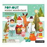 Petit Collage Pop-Out and Build, Winter Wonderland Playset