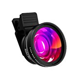 Cell Phone Lens ZOETOUCH 0.45X Super Wide Angle Lens & 12.5X Macro Lens 2 in 1 Professional HD Cell Phone Camera lens Kit for iPhone 7 6S 6S plus 6 5S Samsung Android Smartphones