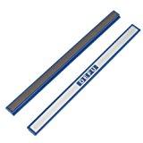 "2 Pcs Office Dark Blue Plastic Gray Board Magnetic Stripes Bars 7.8"""