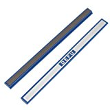 2 Pcs Office Dark Blue Plastic Gray Board Magnetic Stripes Bars 7.8""