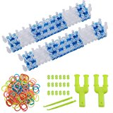 Micent 2 Pack Rainbow Loom Rubber Band Bracelet Loom and Send Y Shape Mini Loom as Gift, Loom Crafting Kit for DIY Rubber Bands, Charm (2 Pack)