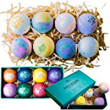 Bath Bombs Gift Set - Relaxing Bubble Bath Products For Women - 8 Large Bath Bomb Fizzies - Relaxation Spa Kit Gifts For Her - Unique White Elephant and Birthday Gifts - Beauty Products by Zen Breeze