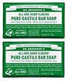 Dr. Bronner's Pure-Castile Bar Soap – Almond, 5oz, 2 pack