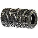 Set of 4 SunF A021 ATV UTV Road Tires 25x8-12 Front 25x10-12 Rear, 6 Ply