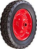 Shepherd Hardware 9599 8-Inch Semi-Pneumatic Rubber Tire, Steel Hub with Ball Bearings, Diamond Tread, 1/2-Inch Bore Offset Axle