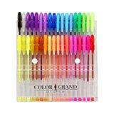 Art School Gel Pens - 36 Gel Pen Set and Glitter Gel Pens for Adult Coloring Books (1-Pack (36 pens))