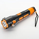 COF COSTA Safety Hammer Car Emergency 9-in-one tool Life Saving Kit Recharge Torch Window breaker Essential Disaster Escape Tool Razor blade Compass USB phone charger Red light flasher Digital radio