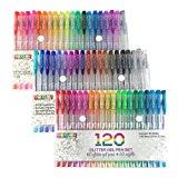 My Color Store 120 Glitter Gel Pens Set, 60 Unique Color Glitter Pens + 60 Glitter Gel Ink Pen Refills, Best Gel Pens for Adult Coloring Books, Journals, Drawing. Gel Glitter Coloring Pens for Kids