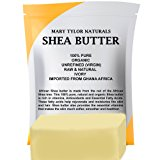 Mary Tylor Naturals Organic Shea Butter 1 lb, Premium Grade Raw Shea Butter, Unrefined, Ivory From Ghana Africa, Amazing Skin Nourishment, Great for Eczema, Stretch Marks and Body Butters